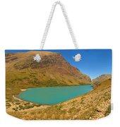 Cracker Lake Many Glacier Panorama Weekender Tote Bag