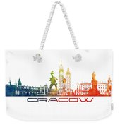 Cracow City Skyline Color Weekender Tote Bag