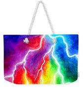 Rainbow Color Lightning Weekender Tote Bag