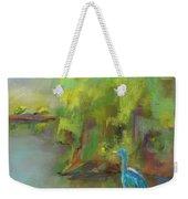 Crane At Golden Ponds Weekender Tote Bag