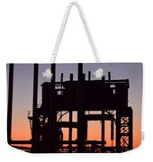 Crane At Sunset Weekender Tote Bag