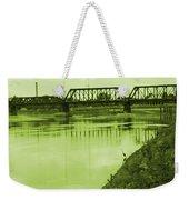 Crane At The River Weekender Tote Bag