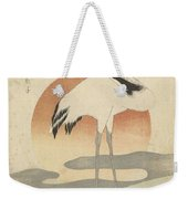 Crane For The First Sunrise Of The Year, Totoya Hokkei, C. 1821 Weekender Tote Bag