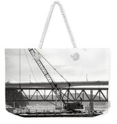 Crane In Winter Weekender Tote Bag