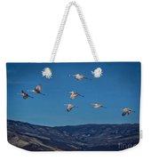 Cranes Across Colorado Blue Weekender Tote Bag