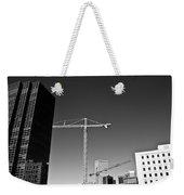 Cranes And Buildings Bw Weekender Tote Bag