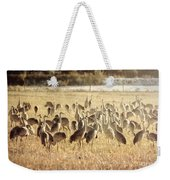 Cranes In The Morning Mist Weekender Tote Bag