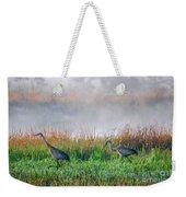 Cranes On Foggy Day Weekender Tote Bag