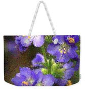 Craquelure On Blue Weekender Tote Bag