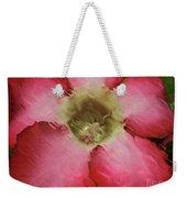Craquelure Pink Flower Weekender Tote Bag