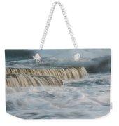 Crashing Sea Waves And Small Waterfalls Weekender Tote Bag