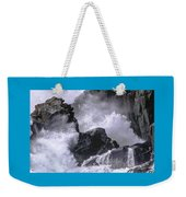 Crashing Wave At Quoddy Weekender Tote Bag