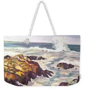 Crashing Wave On Maine Coast Weekender Tote Bag