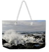 Crashing Waves At Cape Perpetua Weekender Tote Bag