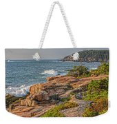 Crashing Waves At Otter Cliff Weekender Tote Bag