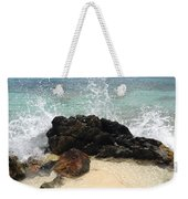 Crashing Waves At Sugar Beach Weekender Tote Bag