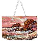 Crashing Waves At Sunset  Majestic Seascape Weekender Tote Bag