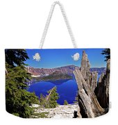 Crater Lake And Wizard Island Weekender Tote Bag