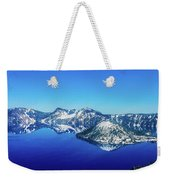 Crater Lake Blue Weekender Tote Bag
