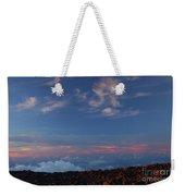 Crater Sunset Weekender Tote Bag
