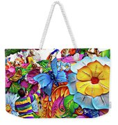 Craving Mardi Gras Beads - Tiptoe Pleading Technique - Vignette Weekender Tote Bag