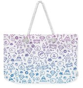 Crazy And Cute Monster Patter In Blue Pink Weekender Tote Bag