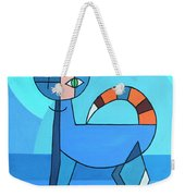 Crazy Cat Weekender Tote Bag by Jutta Maria Pusl