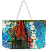 Crazy Red House In The Clouds Whimsy Weekender Tote Bag