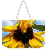 Crazy Sunflower Look Weekender Tote Bag