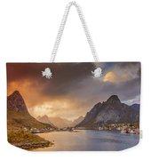 Crazy Sunset In Lofoten Weekender Tote Bag