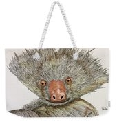 Crazy Two Toed Sloth Weekender Tote Bag