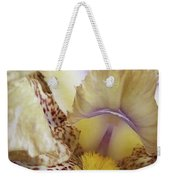 Cream And Purple Iris Weekender Tote Bag