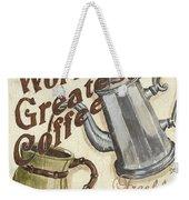 Cream Coffee 1 Weekender Tote Bag by Debbie DeWitt