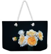 Creamy English Roses Weekender Tote Bag