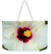 Creamy Hibiscus With Rain Drops Weekender Tote Bag