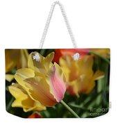 Creamy Yellow Tulip Weekender Tote Bag