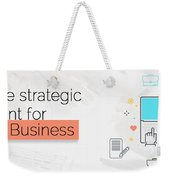 Create Your Own Content Strategy For 2017  Weekender Tote Bag