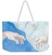 The Creation Hands Sistine Chapel Michelangelo Weekender Tote Bag