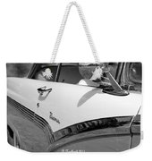 Creative Chrome - 1956 Ford Fairlane Victoria Weekender Tote Bag