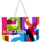 Creative Title - Education Weekender Tote Bag