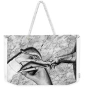 Creators Hand At Work Weekender Tote Bag by Peter Piatt