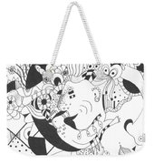 Creatures And Features Weekender Tote Bag by Helena Tiainen