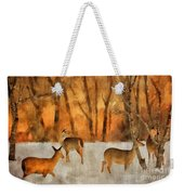 Creatures Of A Winter Sunset Weekender Tote Bag