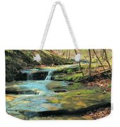 Creek In Dappled Light At Don Robinson State Park 1 Weekender Tote Bag