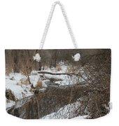 Creek Winding Through The Snow Weekender Tote Bag