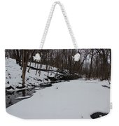 Creeks Battles The Snow And Cold To Remain Flowing. Weekender Tote Bag