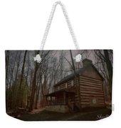 Creepy Cabin Weekender Tote Bag