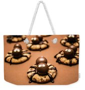 Creepy Crawly Spider Bites. Halloween Food Weekender Tote Bag