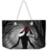 Creepy Nightmare Waiting In The Dark Forest Weekender Tote Bag