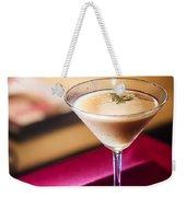 Creme Caramel Martini Cocktail In Bar Weekender Tote Bag
